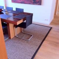 Esstisch Teppich Sisal