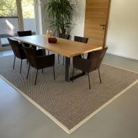 Sisalteppich Esszimmer Tisch