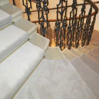 Veloursteppich Treppe