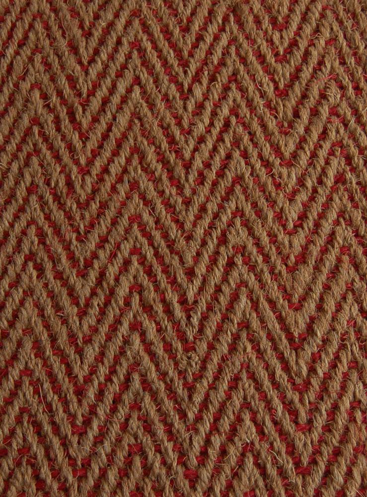 Kokosteppich Natur-Rot