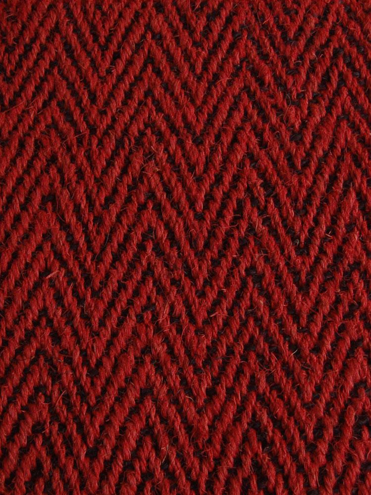 Kokosteppich Rot-Schwarz
