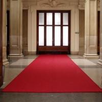Kokosteppich Eingang rot