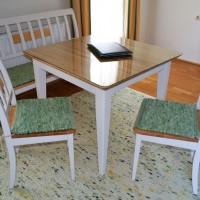 Wollteppich Tisch