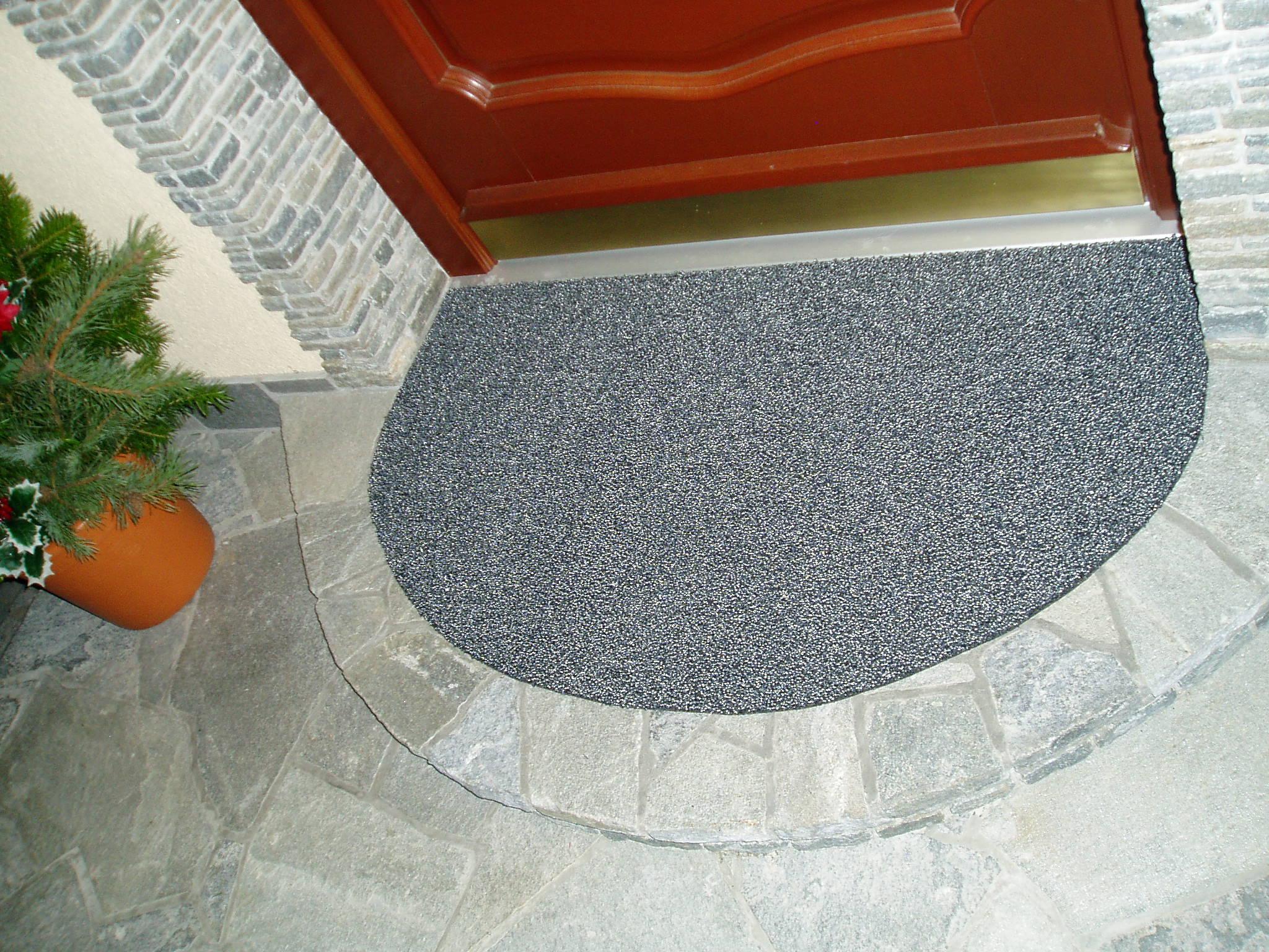 Eingangsteppich Grau