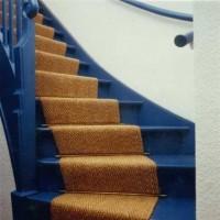 Blaue Treppe Teppich